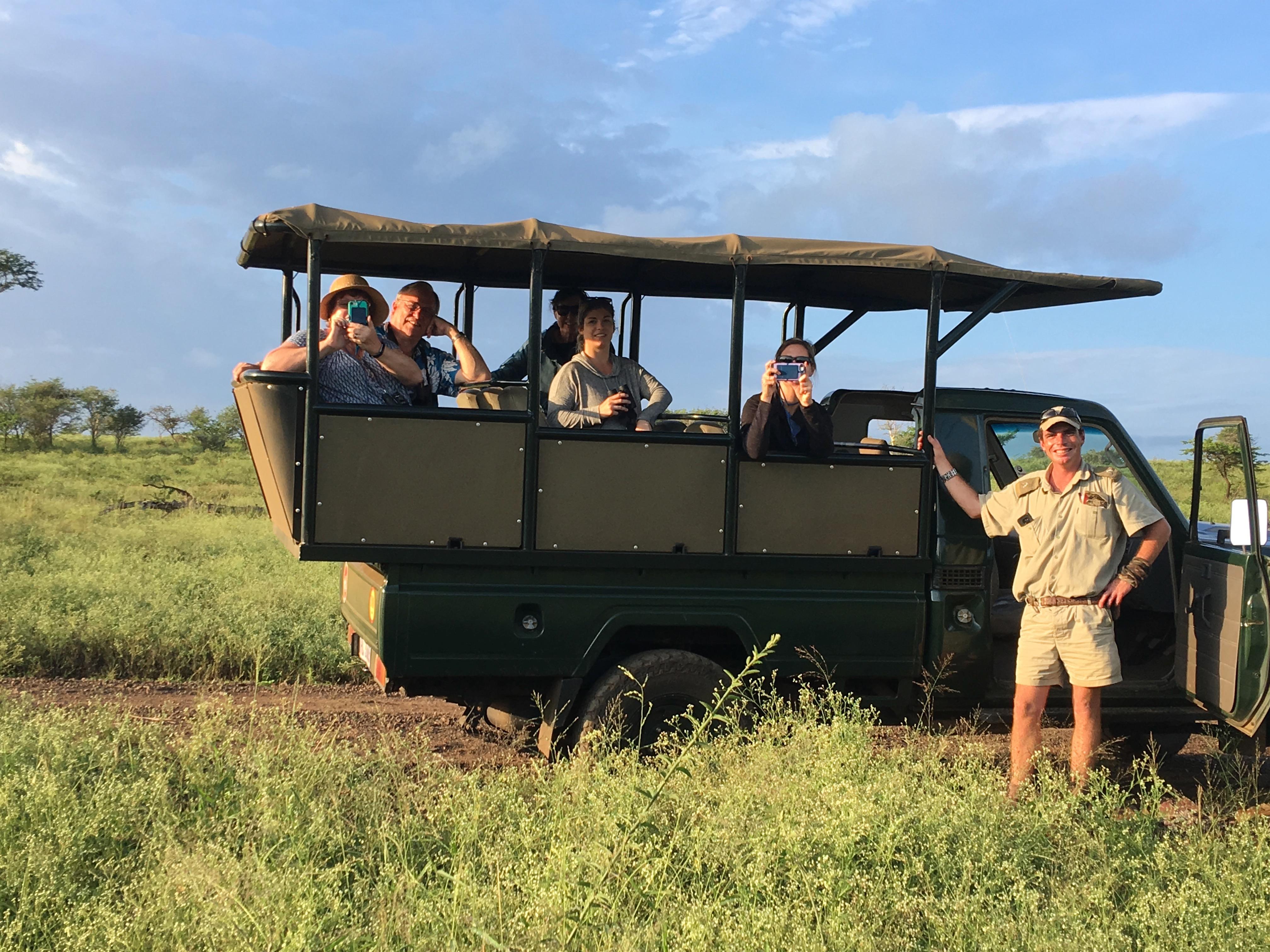 Zulu Nyala Safari travelers